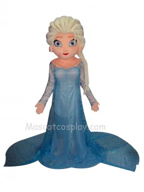 Frozen Princess Elsa Mascot Costume Fancy Dress Outfit