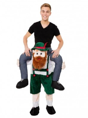 Adult Piggy Back Carry Me Bavarian Beer Guy Ride Mascot Costume Fancy Dress Kids Children Christmas Xmas