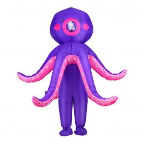 Octopus Squid Inflatable Costume Halloween Christmas Costume for Adult/Kid