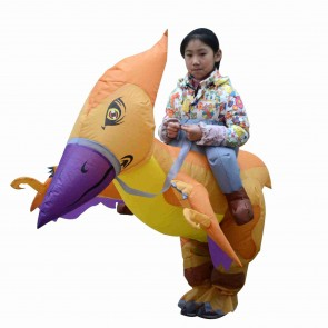 Pterosaur Dinosaur Carry me Ride on Inflatable Costume Fancy Blow up Bodysuit for Kid