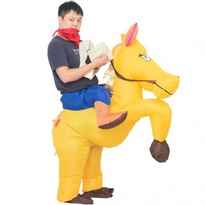 Horse Carry me Ride on Inflatable Costume Halloween Xmas for Adult
