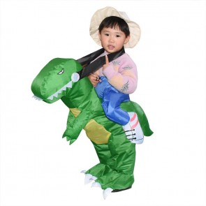 T-Rex Dinosaur Carry me Ride On Inflatable Costume Halloween Christmas For Kid