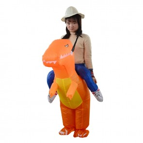 T-Rex Dinosaur Carry me Ride On Inflatable Costume Halloween Christmas For Teenager