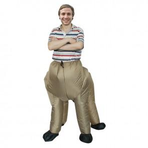 Brown Centaur Half-man Half-horse Inflatable Costume Halloween Christmas Holiday Costume for Adult