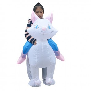 Cat Carry me Ride on Inflatable Costume Fancy Blow up Bodysuit for Kid
