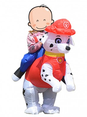 Paw Patrol Marshall Dalmatian Dog Carry Me Ride On Inflatable Costume