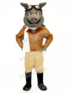 Air Hog Pig with White Scarf Mascot Costumes Animal