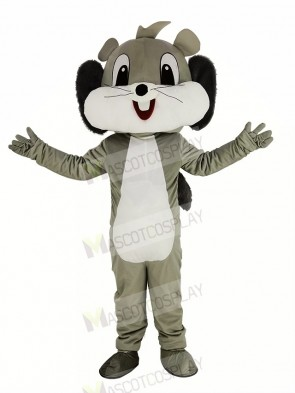Cute Grey Squirrel Mascot Costume Animal