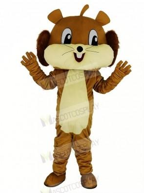 Cute Brown Squirrel Mascot Costume Animal