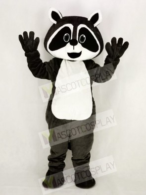 Dark Grey Robbie Raccoon Mascot Costume College