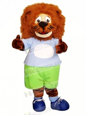 Blue clothes Lion Mascot Costumes Animal