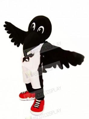 Black Crow with Red Shoes Mascot Costumes Animal