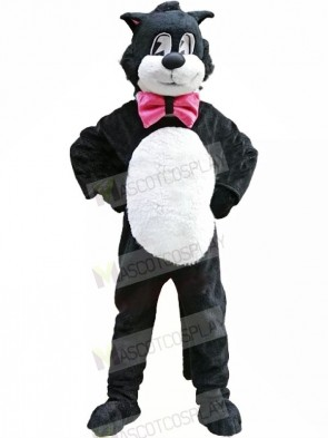 Black White Cartoon Cat Mascot Costumes Animal