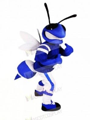 Blue Bee with White Wings Mascot Costumes Animal