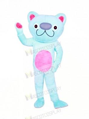 Cute Blue Cat Mascot Costumes Animal