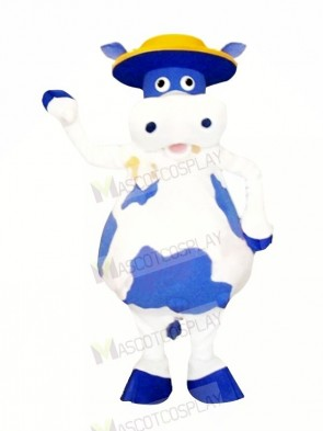 Cute Blue and White Cow Mascot Costumes Animal