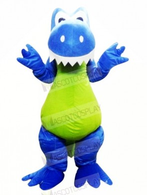 Smiling Blue Dragon Mascot Costumes Animal
