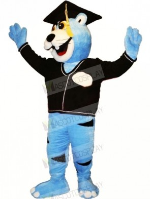 Blue Erudite Panther Mascot Costumes Animal