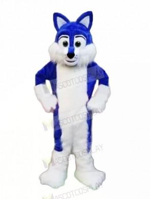Blue Furry Husky Mascot Costumes Animal