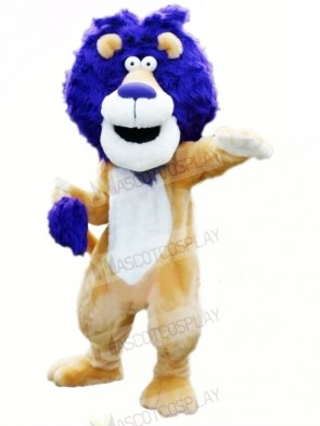 Lion with Blue Hair Mascot Costumes Animal