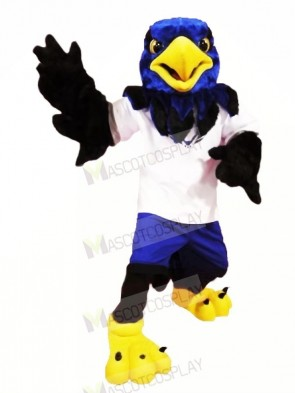 Blue Hawk with Black Wings Mascot Costumes Animal