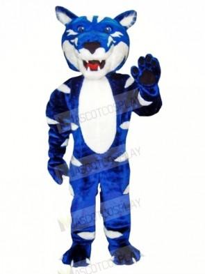 Blue and White Wild Cat Mascot Costumes Animal