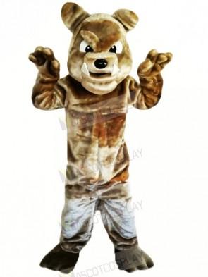 Brown Bulldog with Big Eyes Mascot Costumes Animal
