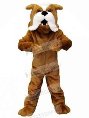 Strong Brown Bulldog Mascot Costumes Animal