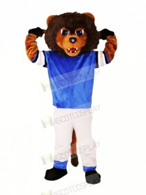Brown Lion with Suit Mascot Costumes Animal