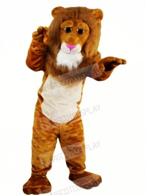 Brown Lion with Long Tail Mascot Costumes Animal