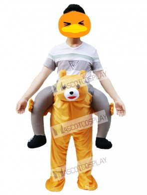 Ride on Me Teddy Bear Carry Me Ride Brown Bear Mascot Costume