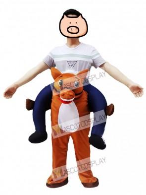 Wild Western Horse Carry Me Piggy Back Mascot Farm Cowboy Costume