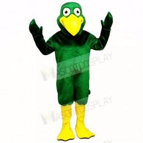 Smiling Green Bird Mascot Costumes Cartoon