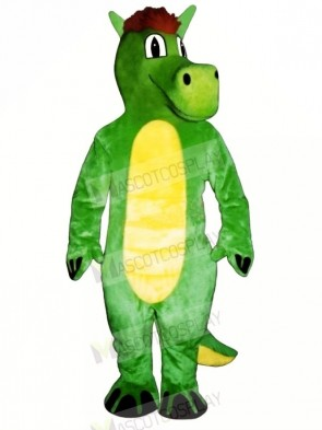 Green Dopey Dragon Mascot Costumes Animal