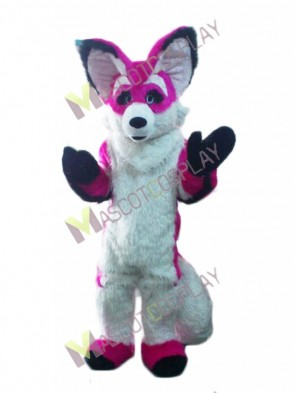 Pink and White Chihuahua Luxury Fox Dog Mascot Costume