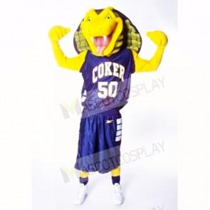 Sports Yellow Cobra Snake Mascot Costumes Cartoon