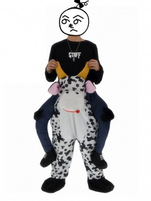 Piggyback Cow Carry Me Ride Dairy Cattle Mascot Costume