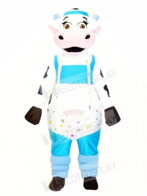Cow with Overalls Mascot Costumes Animal