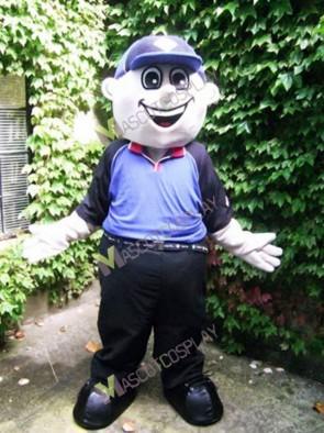 Danny Domino Boy with Cap Mascot Costume