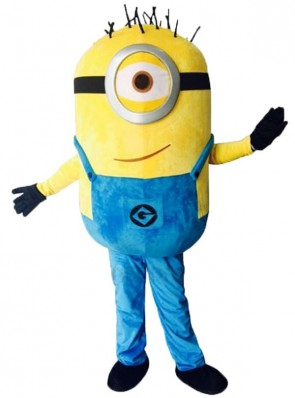 Despicable Me Funny One Eye Minions Mascot Costume Custom Fancy Costume Anime Cosplay