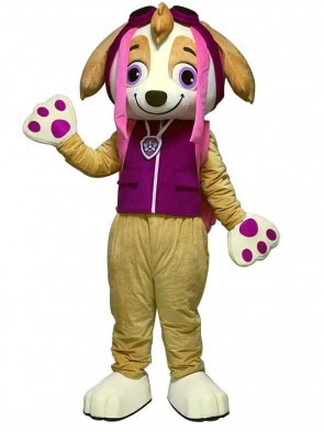 Paw Patrol Skye Mascot Costume Cartoon Pink Dog Character