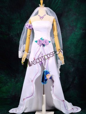 Macross Frontier Sheryl Nome Cosplay Wedding Dress