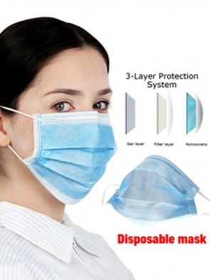 50 pcs Disposable Face Mask 3 Ply With Elastic Ear Loop Filter Anti Dust Masks Respirator For Adults And Children