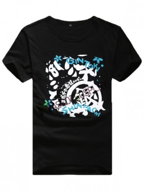 Black Gintama Quality Anime T-Shirts