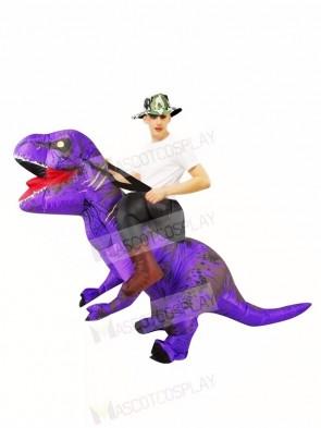Purple Tyrannosaurus T-Rex Inflatable Carry Me Ride On Costume