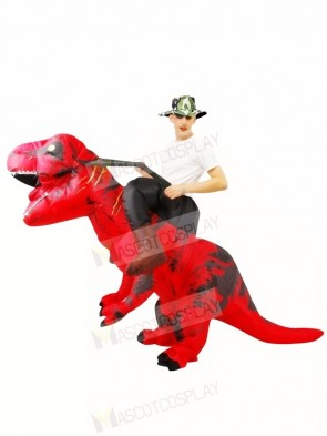 Red Tyrannosaurus T-Rex Inflatable Carry Me Ride On Costume