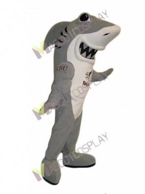 Grey and White Shark Mascot Costume