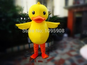 High Quality Duck Mascot Costume Yellow Ducky Mascot Costume Adult Party Carnival Halloween Christmas Mascot