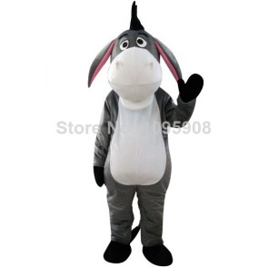 High Quality Eeyore Winnie the Pooh Grey Donkey Mascot Costume Party Carnival Christmas