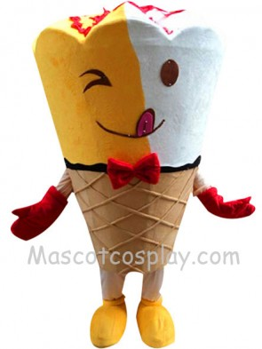 Kiss-me Ice Cream Mascot Character Costume Fancy Dress Outfit